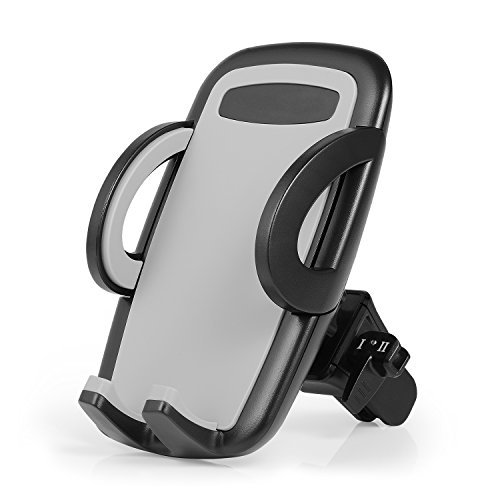 Car Mount Phone Holder – Emelon Air Vent Car Phone Holder with 360 Degree Rotation for iPhone 8 8plus 7 7 Plus 6s 6 Plus and other Smartphones and GPS devices