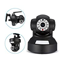 Powerextra Wireless Surveillance Camera with Motion Detection/Two Way Audio/Night Vision for Baby Monitor Security Camera Pet Monitor (Remote Control by Android iOS App)