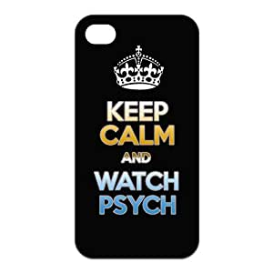 luckeverything store Custom classic movie psych black rubber Case for iphone 4 4s cover by mcsharks