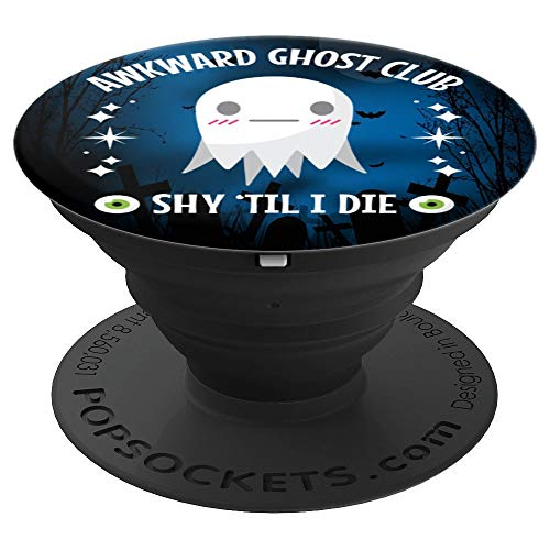 Halloween Awkward Ghost Club Shy - PopSockets Grip and Stand for Phones and Tablets for $<!--$13.99-->
