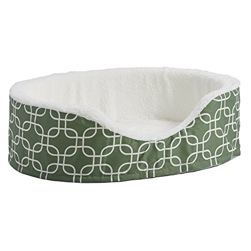 Orthoperdic Egg-Crate Nesting Pet Bed w/ Teflon Fabric Protector, Medium Green