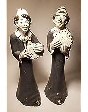 طقم تمثال فخار - منحوتات طبال ورقاق