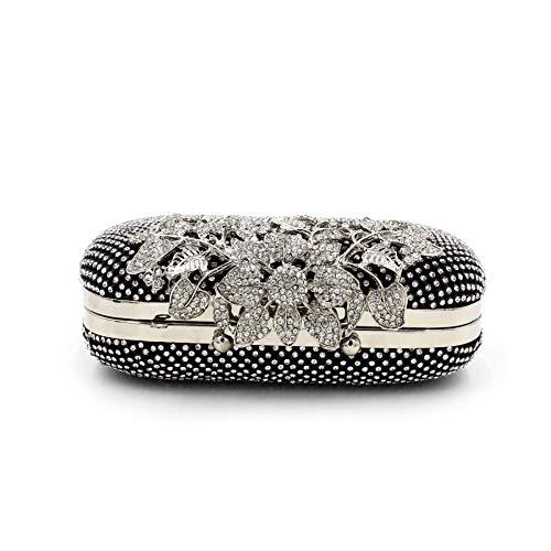 Black De Soirée Femme amp;jy Sac Pour En X Diamant À Bandoulière Main Chaîne q7E1pwEx