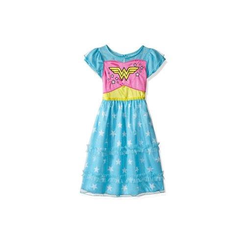 DC Comics Little Girls' Toddler Wonder Woman Dressy Gown, Blue, 2T