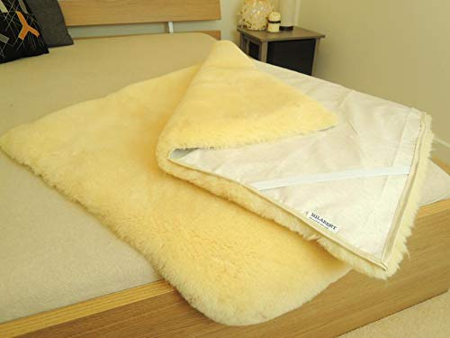 MILABERT Genuine Medical Rectangular Sheepskin Bed pad Underlay Mattress - Pressure Relief - Premium Quality by MILABERT (Image #3)