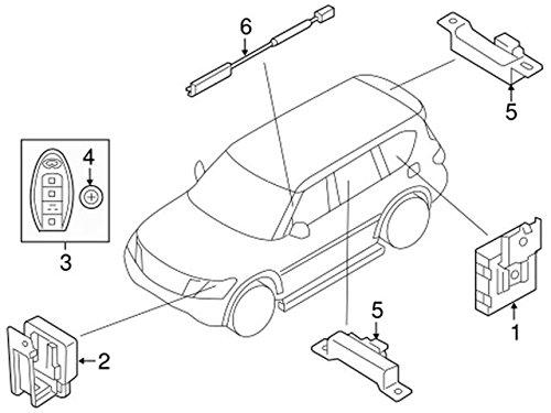 Amazon Com 2017 Nissan Armada Replacement Intelligent Key Fob