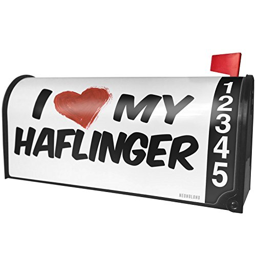 (NEONBLOND I Love My Haflinger, Horse Magnetic Mailbox Cover Custom Numbers)