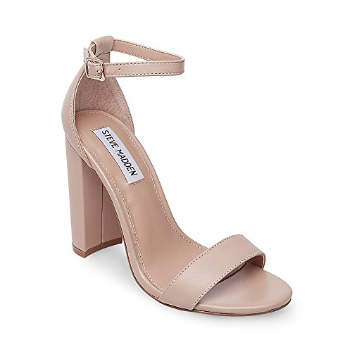 Steve Madden Women's Carrson Dress Sandal, Blush Leather, 8 M US by Steve Madden