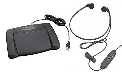 Hardware Transcription Kit, Include Universal USB Digital Foot Control and Spectra USB Transcription Headset