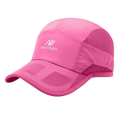 para de deporte negro béisbol pesca protección Gorra camping ciclismo visera rosa playa viajes vacaciones unisex rápido solar ligera UV sombrero parasol malla secado Qchomee senderismo b de w0zESqS