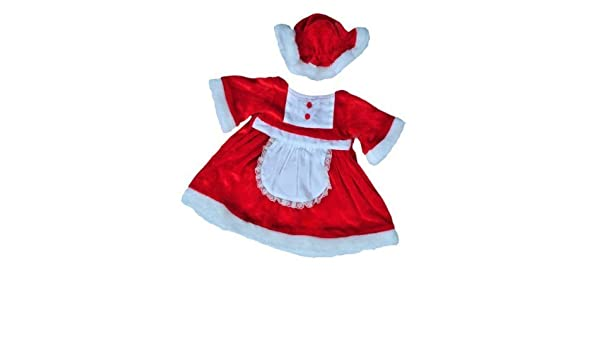 7c2fbed8173f Amazon.com: Mrs Santa Claus Christmas Dress outfit teddy bear clothes to fit  15 16 build a bear factory bears by Teddy Mountain: Toys & Games