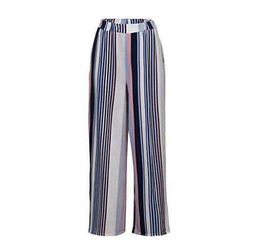 Pantaloni Palazzo Donna Nero Laterali Stripe High Chic Estivi Fashion Abbigliamento Tempo Libero Larga Sciolto Waist Tasche Accogliente Eleganti Ragazza Con Gamba Pantaloni Pantaloni Pantaloni SqdH5wq