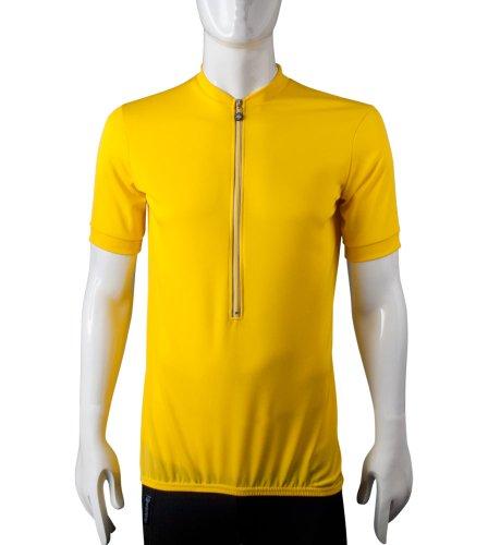 Yarn Spun Micro - AERO|TECH|DESIGNS TALL MAN'S Cycling Jersey Bicycle Biking Shirt XLARGE YELLOW