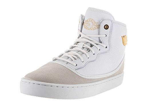 Nike Jordan Kids Jordan Jasmine GG White/Metallic Gold/White Basketball Shoe 7 Kids US (All Gold Jordans)