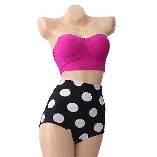 Bikini de 2piezas Retro Vintage, de Talle Alto A