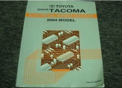 2004 Toyota TACOMA TRUCK Electrical Wiring Diagram Service Shop Manual EWD ()
