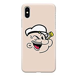 Loud Universe Popeye Face Minimal style iPhone XS Case Popeye The Sailor iPhone XS Cover with 3d Wrap around Edges