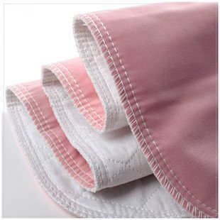 Reusable Washable Bed Pads for Incontinence - Pack of 4 Underpads Made of Soft Cotton Polyester Blend with Leakproof Vintex Backing (34 x 36 Inches Each)