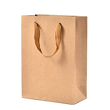 Pandahall 10 piezas rectangular kraft papel bolsas de regalo ...