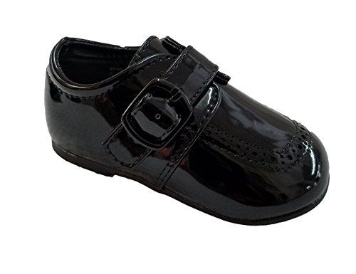 Auston Boys Faux Patent Leatherette Crib Dress Shoe Baby SZ 3 by Auston