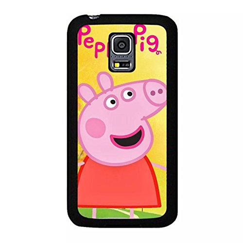 Kawaii Nice Cartoon Peppa Pig Phone Case Cover for Coque Samsung Galaxy S5 Mini Peppa Pig Stylish,Cas De Téléphone