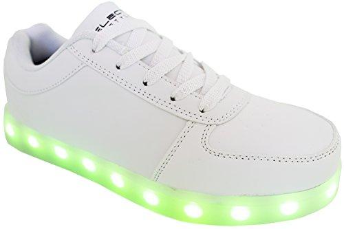 Gli Stili Elettrici Illuminano Le Scarpe Con Il Bianco