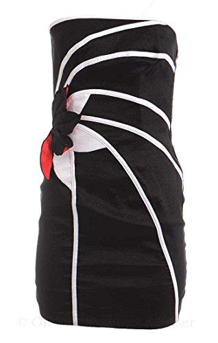 (Jessica McClintock Women's Appliqued Taffeta Strapless Mini Dress 2 Black)