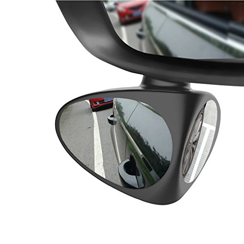 Alotm Car Blind Spot Mirror Wide Angle Mirror 360 Rotation Adjustable Convex Rear View Mirror for Safety Parking 3M Adhesive Stick on Design for All Universal Vehicles Car