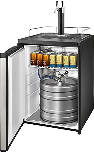 Insignia - 5.6 Cu. Ft. 2-Tap Beverage Cooler Kegerator - Stainless Steel