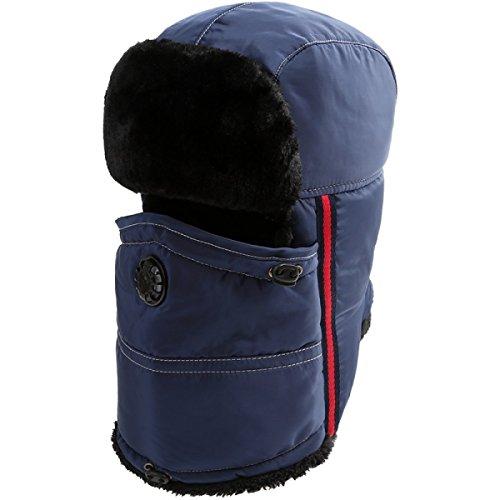 Prueba Viento A De Winter Esquí SOOCO Bombardero Para Sombrero Unisex Cálido Máscara Hombre Ear Invierno Mujer Sombrero De Black Flap TCCZaw6q