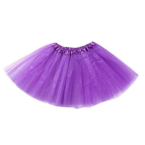 Tulles Jupe Tutu Enfant Deguisement Tulle Fille Violet Danse Pettiskirt Jupon Classique Foncé En Isshe Petite Jupes À Couche Courte Dentelle Volants xsthrdCoQB