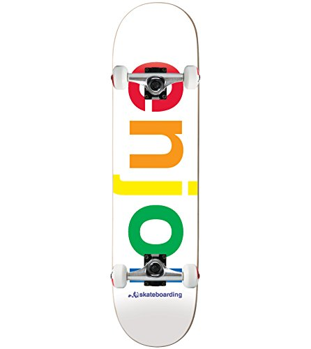 (ENJOI Skateboard Complete SPECTRUM WHITE 8.0