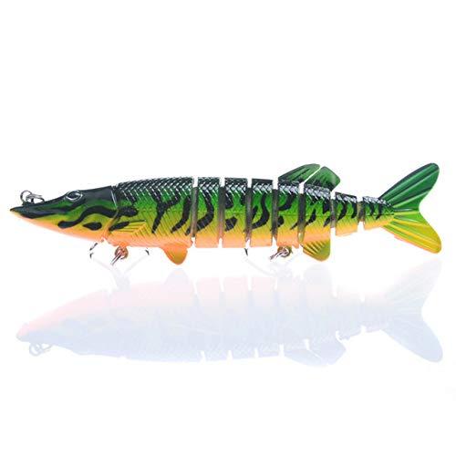Señuelos de pesca – Señuelo de pesca artificial de plástico duro de 12 cm de varios segmentos – (Color: como se...