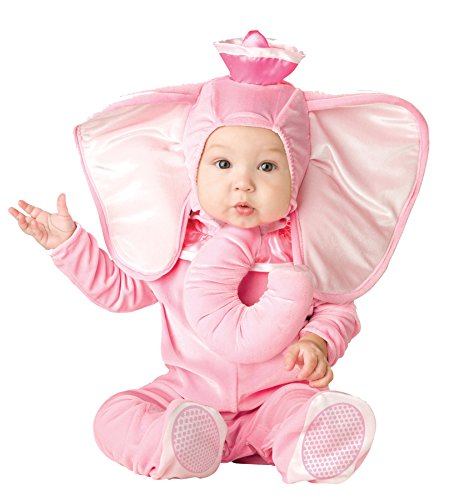 UHC Baby's Pink Elephant Hooded Bodysuit Infant Child Halloween Costume, 6-12M