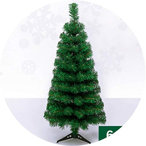 Artificial Decorated Christmas Tree Green Xmas Plastic Tree Year Ornaments Desktop Decor,60cm