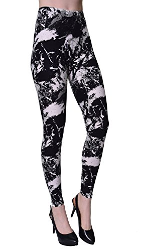 VIV Collection Regular Size Printed Leggings (Paint Rebellion) -