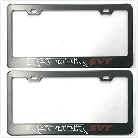 Ford Raptor Black Stainless Steel License Plate Frame
