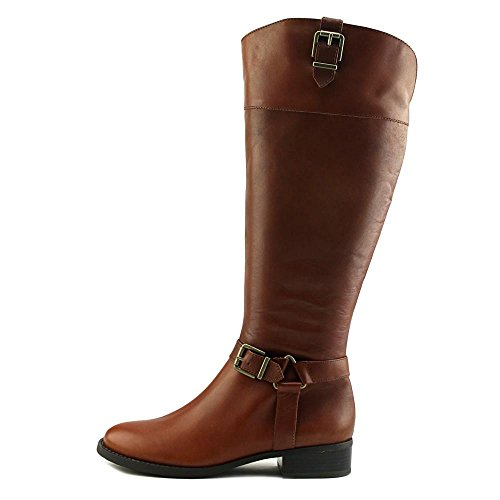 Fedee Leather High INC International Toe Knee Closed Cognac Fashi WC Concepts Womens zqwTHwxtX