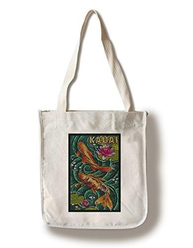 Lantern Press Kauai, Hawaii - Koi Mosaic (100% Cotton Tote Bag - Reusable)