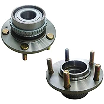 TRQ Wheel Bearing /& Hub Assembly Rear Pair Set for Tucson Sportage FWD ABS