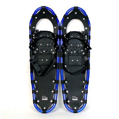 New MTN Extreme Lightweight All Terrian Man Woman Kid Teen Snowshoes up to 255 lbs /Free Bag + Nordic Pole - BLUE (22'' inch) by MTN Snowshoes