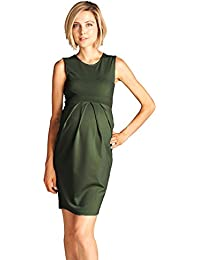LaClef Women's Maternity Knee length Front Pleated...