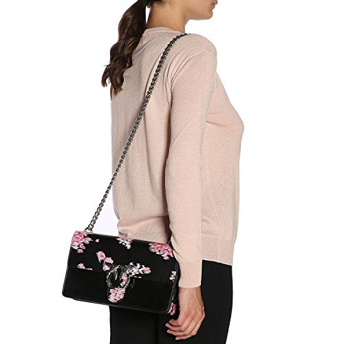 Love Vitello BAG Stampato fib 1P217BY516 seta spinato PINKO ZN8 Flower filo tracolla q5axnId