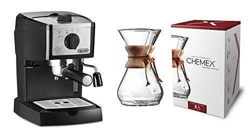 DeLonghi EC155M Manual Espresso Machine, Cappuccino Maker (Premium)