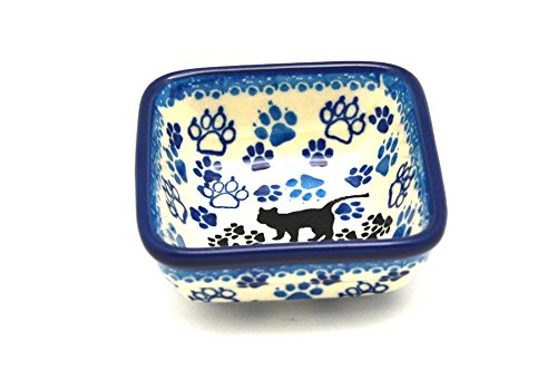 Polish Pottery Dish - Food Prep - Boo Boo Kitty