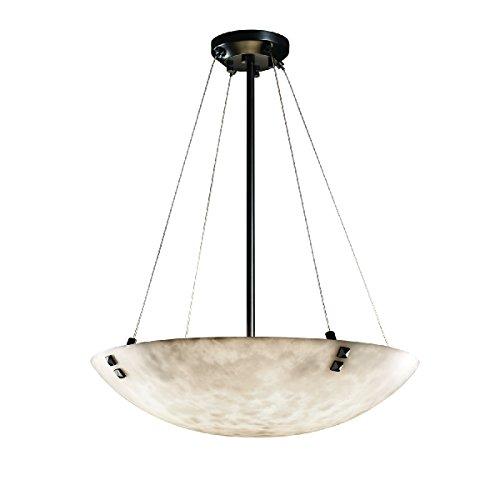 Black Matte Finials Clouds - Justice Design Group Lighting CLD-9662-35-MBLK-F3-LED5-5000 Finials 27