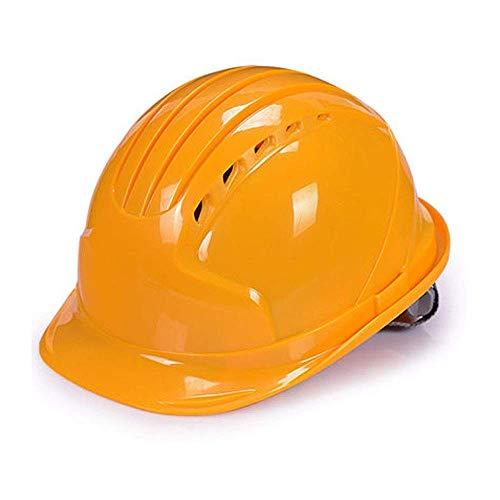 GHMHJH Work Safety Helmet, Hard Hat Helmet Construction, Concave Cap Construction Site, Comfortable Ventilation Helmet with Adjustable Shoulder Strap (Color : Yellow)