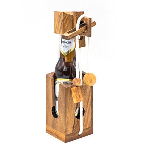 Connoisseur Decanter - Beer Bottle Puzzle Brain Teaser 325 ml Adults Gift Lover