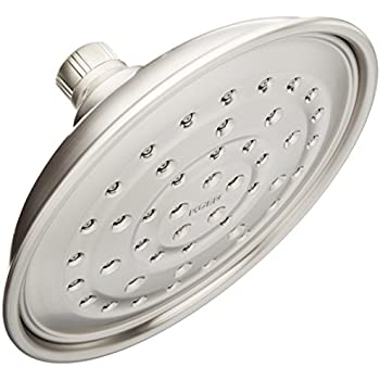 Moen 21007SRN Vitalize 7 Inch Rain Shower Head Featuring Pressurized Invigorain Technology - Spot Resist Brushed Nickel