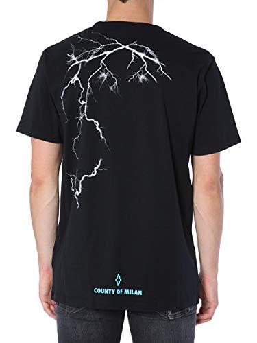 shirt Noir Manches Homme Marcelo Burlon Courtes T 7wqRU6Ex6P